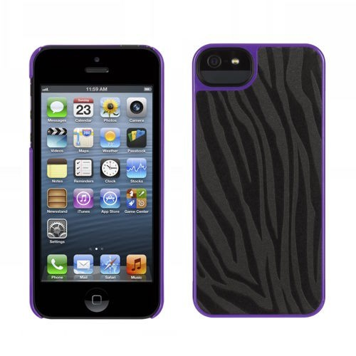 Griffin Moxy Form iPhone 5(S)/SE Zebra schwarz/lila