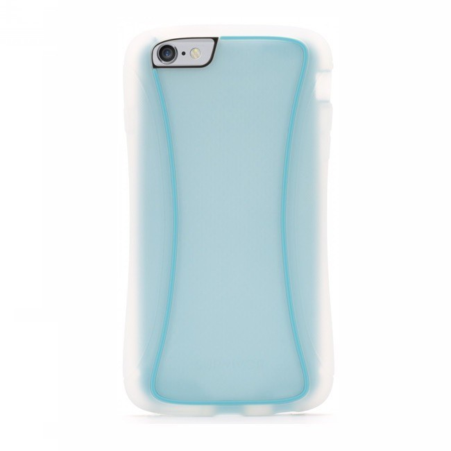 Griffin Survivor Slim iPhone 6(S) Plus transparent/blau
