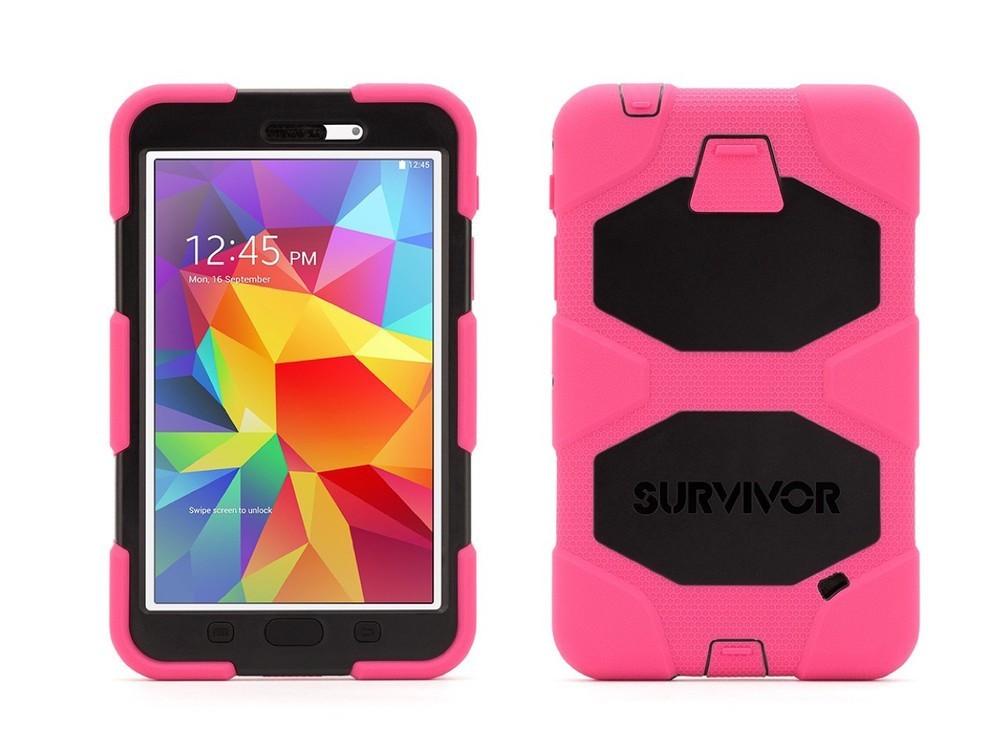 Griffin Survivor Galaxy Tab 4 7.0 Hardcase Rosa/Schwarz