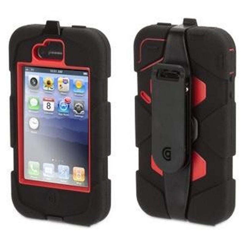 Griffin Survivor Hardcase iPhone 4(S) rot/schwarz