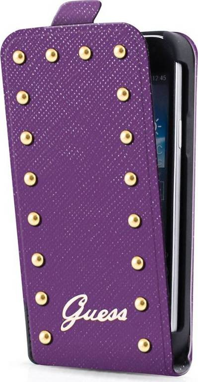 Studded iPhone 5C Flip Case Purple