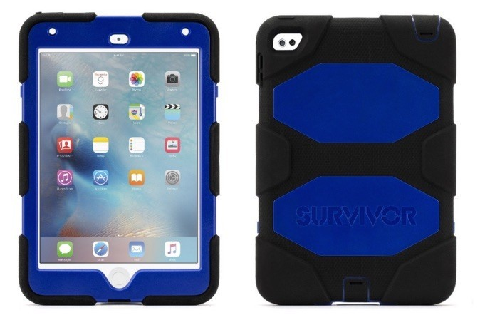 Griffin Survivor Hardcase iPad Mini 4 blau-schwarz