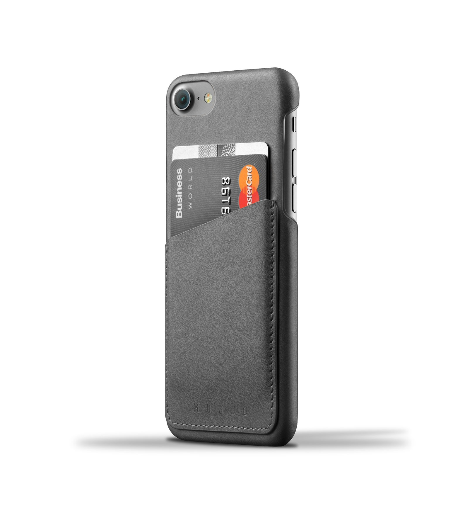 Mujjo Wallet Case iPhone 7 schwarz