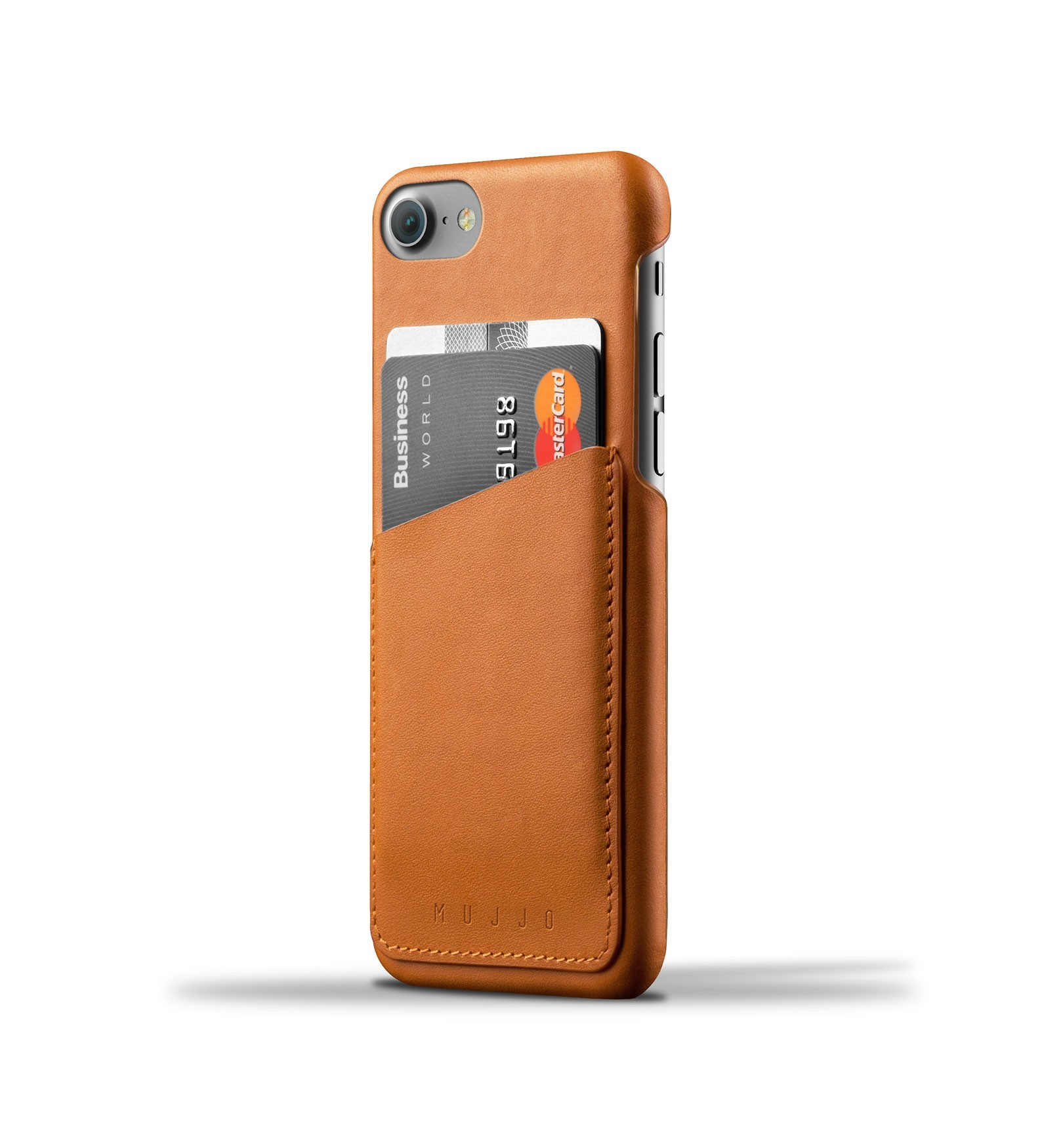 Mujjo Wallet Case iPhone 7 Plus braun