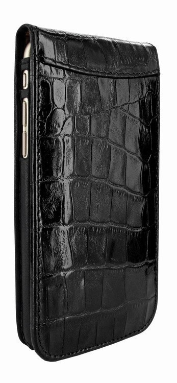 Piel Frama Magnetic Flipcase iPhone 6(S) Crocodile schwarz
