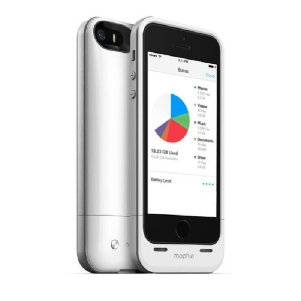Mophie space pack 16 GB  iPhone 5(S)/SE weiß