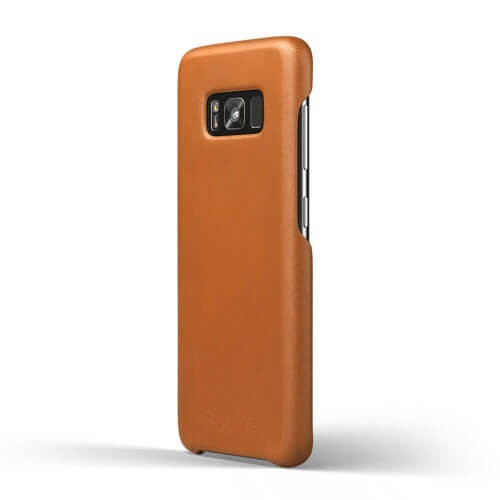 Mujjo Leather Case Galaxy S8 Braun