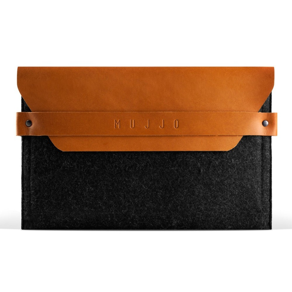 Mujjo Envelope Sleeve iPad Mini 1 / 2 / 3 / 4 / 5 dunkelgrau/braun