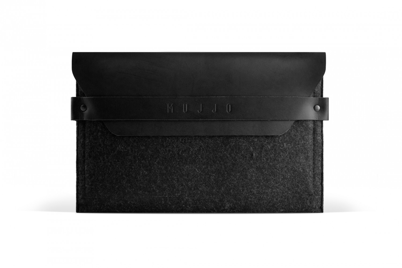 Mujjo Envelope iPad mini 1 / 2 / 3 / 4 / 5 Leder Sleeve schwarz