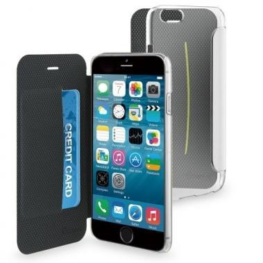 Muvit Easy Folio Card Crystal case iPhone 6(S) weiß