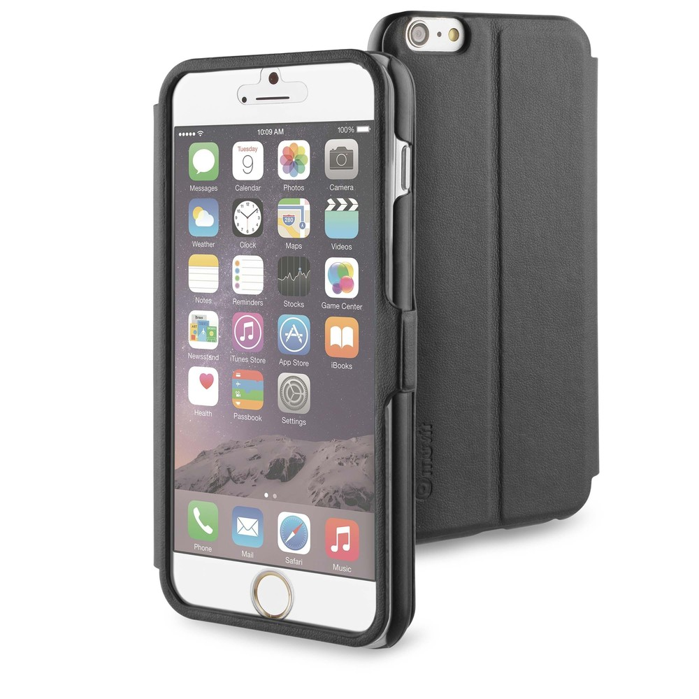 Muvit Full Window Front Stand Case iPhone 6(S) Plus schwarz