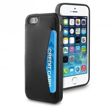 Muvit Leatherette Cardslot Case iPhone 5(S)/SE schwarz