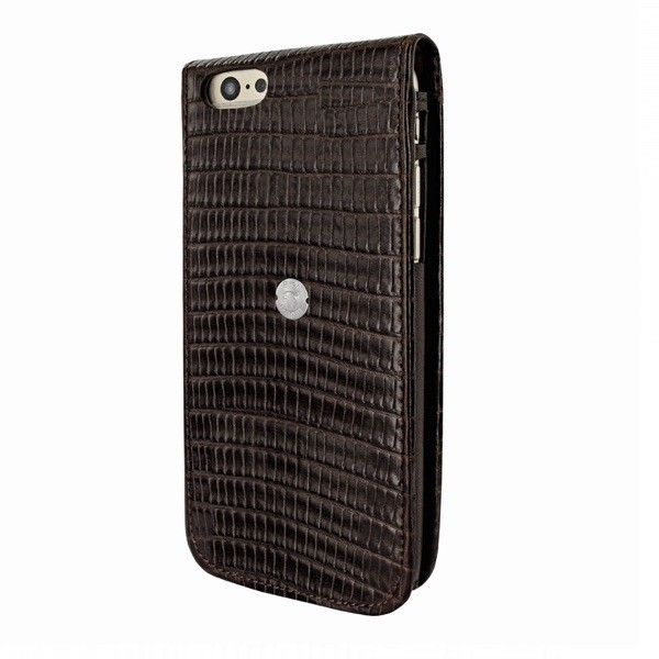 Piel Frama Magnetic Flipcase iPhone 6(S) Plus Lizard schwarz