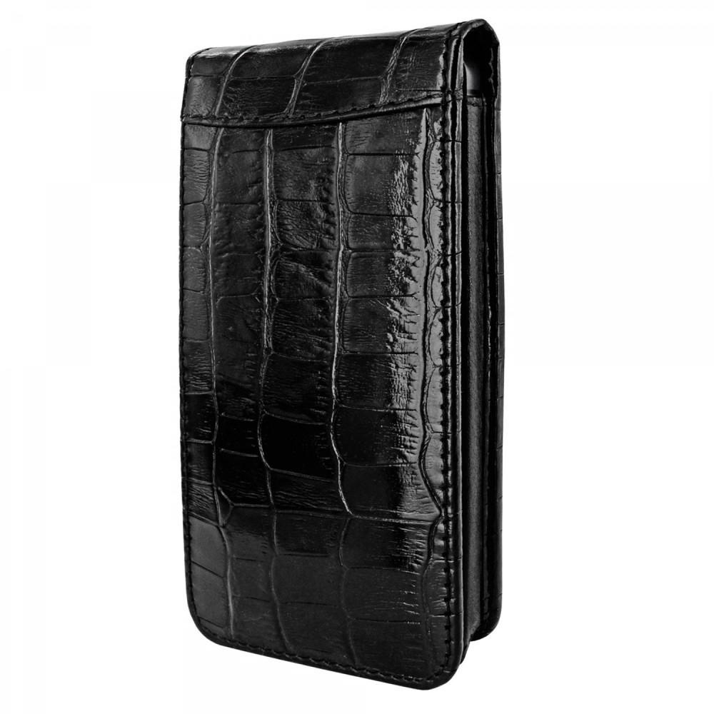 Piel Frama Magnetic Flipcase iPhone 5(S)/SE Crocodile schwarz