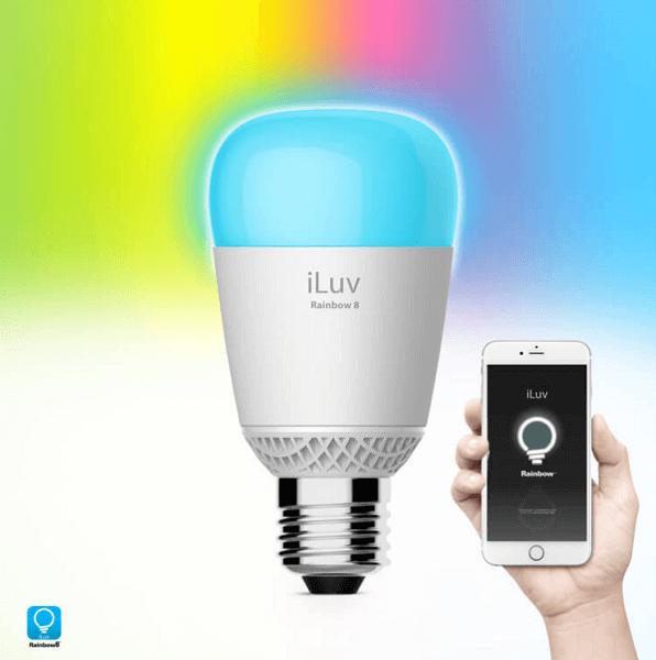 iLuv Rainbow8 WiFi Multicolor LED Light Bulb