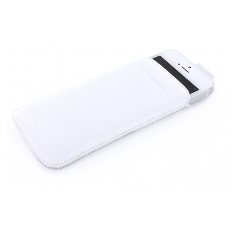 Mobiparts Pouch Leder iPhone 5(S)/SE weiß