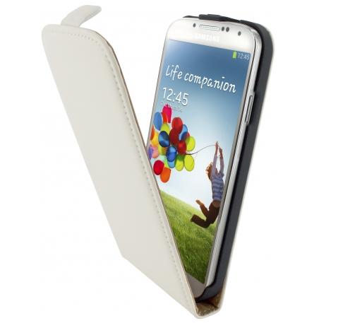 Mobiparts Flip Case Leder Galaxy S4 weiß