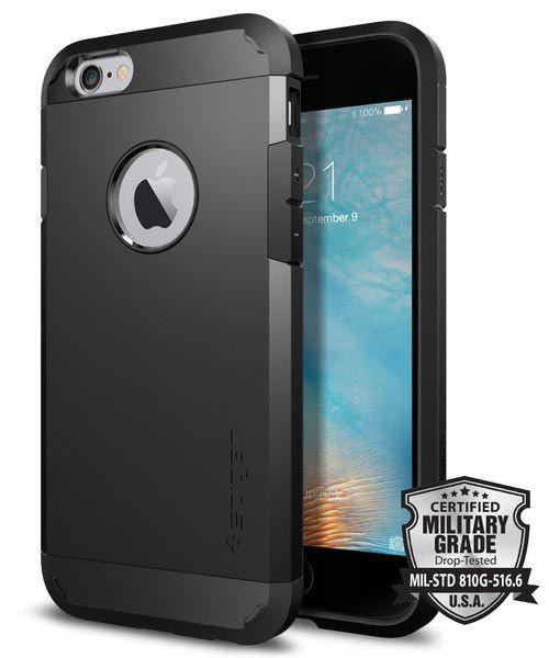 Spigen Tough Armor Hülle iPhone 6 / 6S schwarz