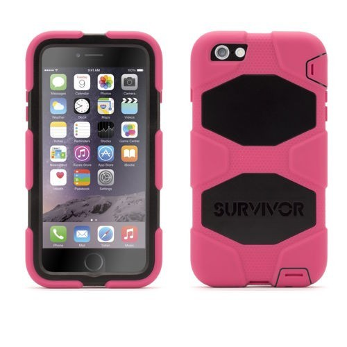 Griffin Survivor Hardcase iPhone 6 (S) Plus pink/schwarz