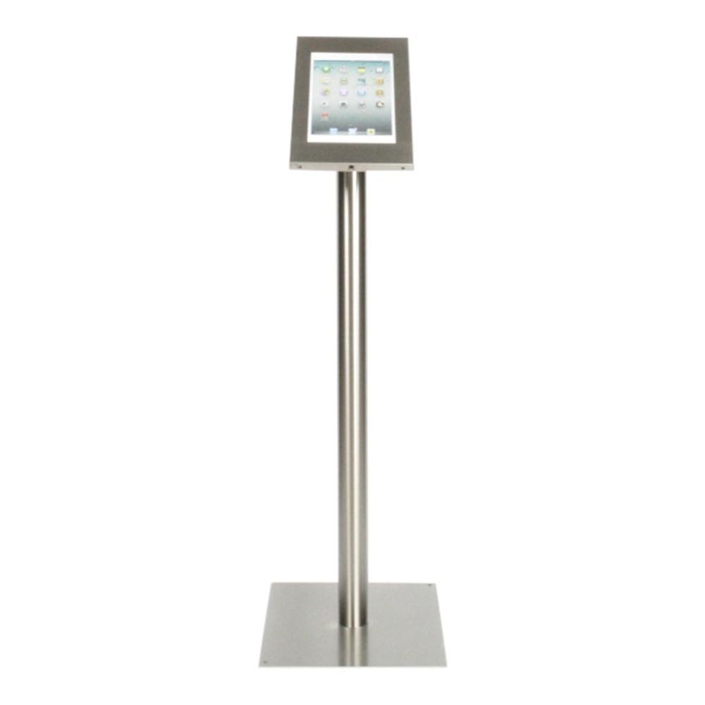 Tablet Bodenständer Securo iPad und Galaxy Tab grau (Edelstahl)