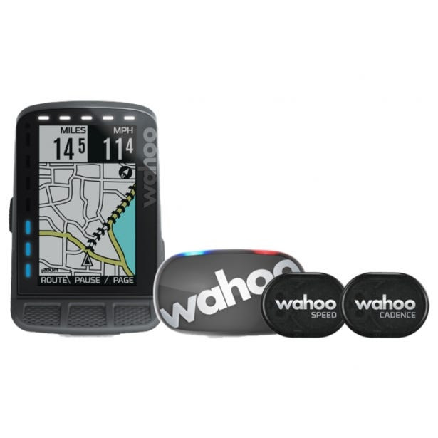 Wahoo Fitness ELEMNT ROAM GPS Stealth Bundle Fahrradcomputer (Modell 2020)