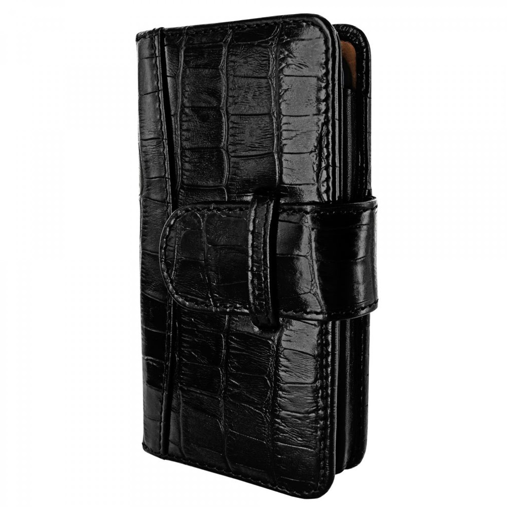 Piel Frama Wallet iPhone 5(S)/SE Crocodile schwarz