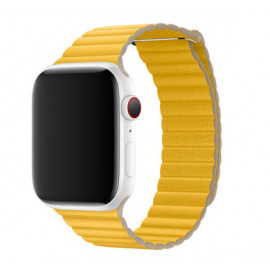 Apple Leather Loop Apple Watch Armband Medium 42mm / 44mm Meyer Lemon