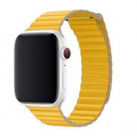 Apple Leather Loop Apple Watch Armband Large 42mm / 44mm Meyer Lemon