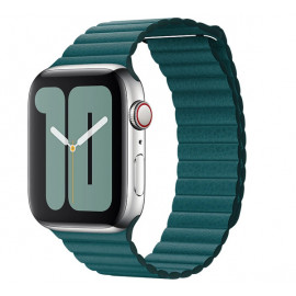 Apple Leather Loop Apple Watch Armband Large 42mm / 44mm Peacock