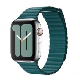 Apple Leather Loop Apple Watch Armband Medium 42mm / 44mm Peacock