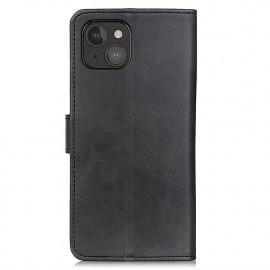 Casecentive Leder Wallet Case mit Verschluss iPhone 13 Mini schwarz