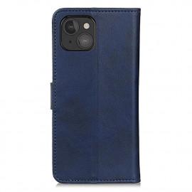 Casecentive Leder Wallet Case mit Verschluss iPhone 13 Mini blau