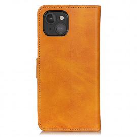 Casecentive Leder Wallet Case mit Verschluss iPhone 13 Mini braun