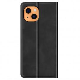 Casecentive Magnetic Leather Wallet Case iPhone 13 Mini schwarz