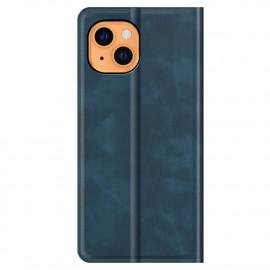 Casecentive Magnetic Leather Wallet Case iPhone 13 Mini blau