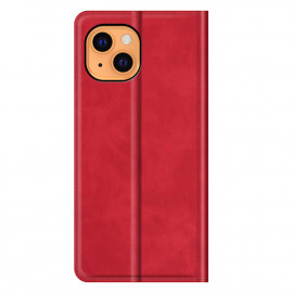 Casecentive Magnetic Leather Wallet Case iPhone 13 rot
