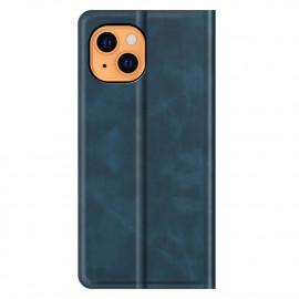 Casecentive Magnetic Leather Wallet Case iPhone 13 blau