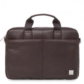 Knomo StanFord Leather slim laptop carrier 13 Inch braun