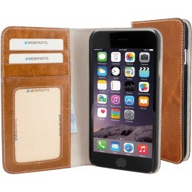 Mobiparts Foliohülle iPhone 6 / 6S cognac