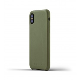 Mujjo Leather Case iPhone X grün