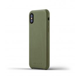 Mujjo Leather Case iPhone X grün