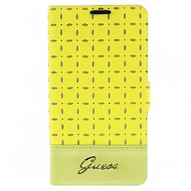 Gianina Galaxy S4 Leather Book Case Yellow
