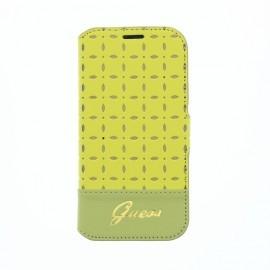 Gianina Galaxy S4 mini Leather Book Case Yellow