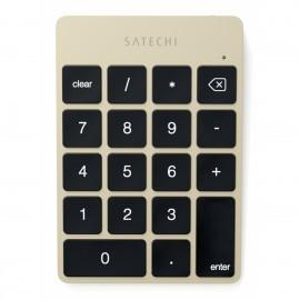 Satechi Slim wiederaufladbare Bluetooth-Tastatur (Nummernblock) Aluminium Gold