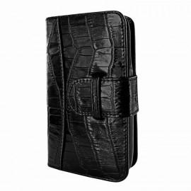 Piel Frama Wallet iPhone 6 Plus / 6S Plus Krokodil schwarz