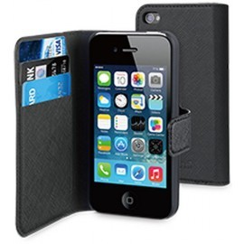 Muvit Wallet Case iPhone 4(S) schwarz