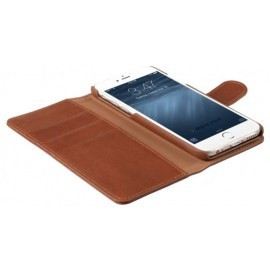 Melkco Alphard iPhone 6 Plus / 6S Plus Book Case Leather Orange Braun