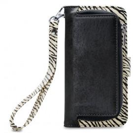 Mobilize 2in1 Gelly Wallet Zipper Case iPhone XR Schwarz / Zebra