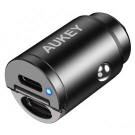 Aukey 2 Port PD USB-C KFZ Ladegerät 30W