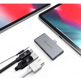 ADAM elements CASA Hub i4 USB-C 3.1 4 port iPad Pro grau